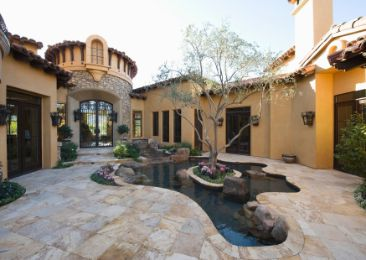 marbled patio in a mansion | Cairns Retaining Walls